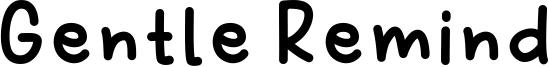 Gentle Remind Font