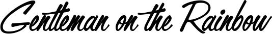 Gentleman on the Rainbow Font