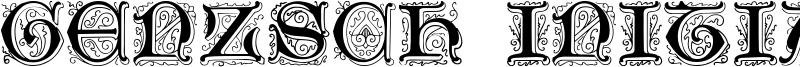 Genzsch Initials Font