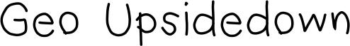 Geo Upsidedown Font