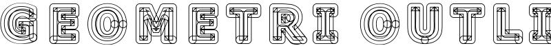 Geometri Outline Font