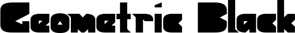 Geometric Black Font
