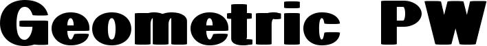 Geometric PW Font