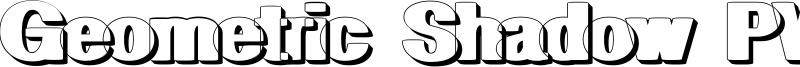 Geometric Shadow PW Font