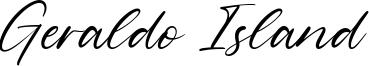 Geraldo Island Font