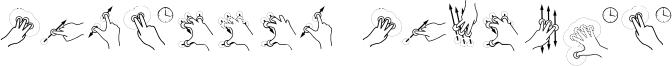 Gesture Glyphs.otf