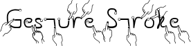 Gesture Stroke Font