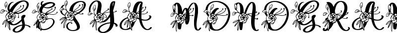 Gesya Monogram Font