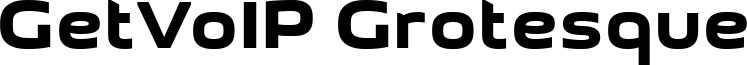 GetVoIP Grotesque Font