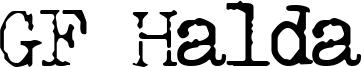 GF Halda Font