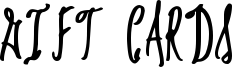 Gift Cards Font