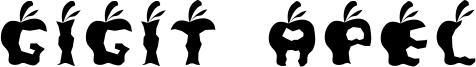Gigit Apel Font