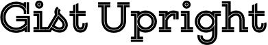 Gist Upright Font