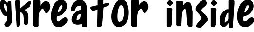 Gkreator Inside Font