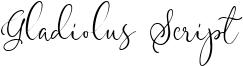Gladiolus Script Font