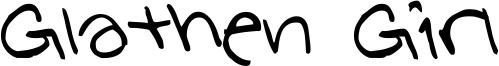 Glathen Girl Font
