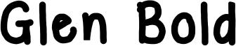 Glen Bold Font