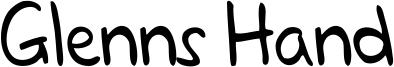 Glenns Hand Font