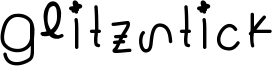 Glitzstick Font