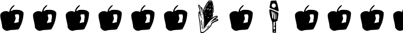 GM Doodles Food Font