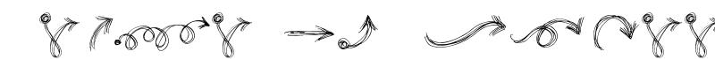 Go around the books - Arrows Font