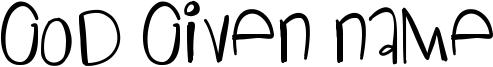God Given Name Font
