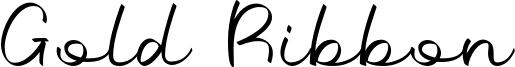 Gold Ribbon Font