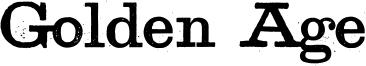Golden Age Font
