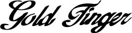 Gold Finger Font