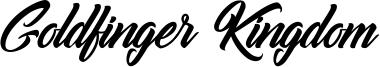 Goldfinger Kingdom Font