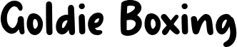 Goldie Boxing Font