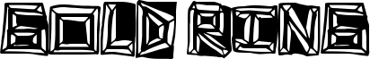 Gold Ring Font
