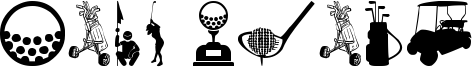 Golf Icons Font