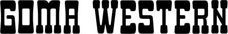 Goma Western Font