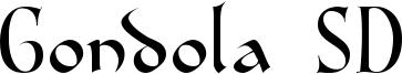Gondola SD Font