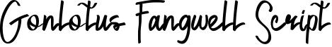Gonlotus Fangwell Script Font