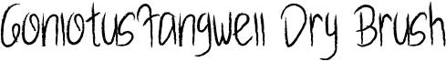 GonlotusFangwell Dry Brush Font