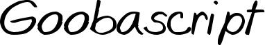 Goobascript Font