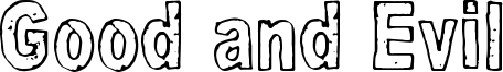 Good and Evil Font