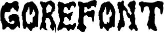 GoreFont Font