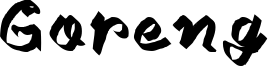 Goreng Font