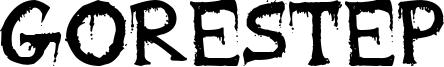 Gorestep Font