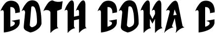 Goth Goma G Font
