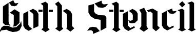 Goth Stencil Font