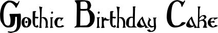 Gothic_Birthday_Cake.otf