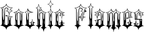 Gothic Flames Font