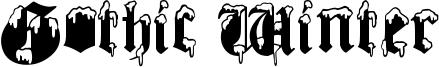 Gothic Winter Font