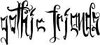 Gothic Friends Font
