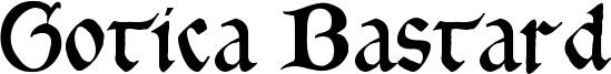 Gotica Bastard Font