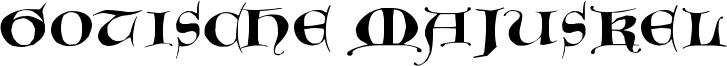 Gotische Majuskel Font